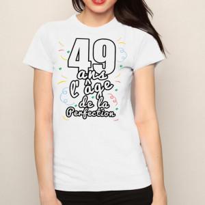 t-shirt-femme-anniversaire-49-ans-lage-de-la-perfection
